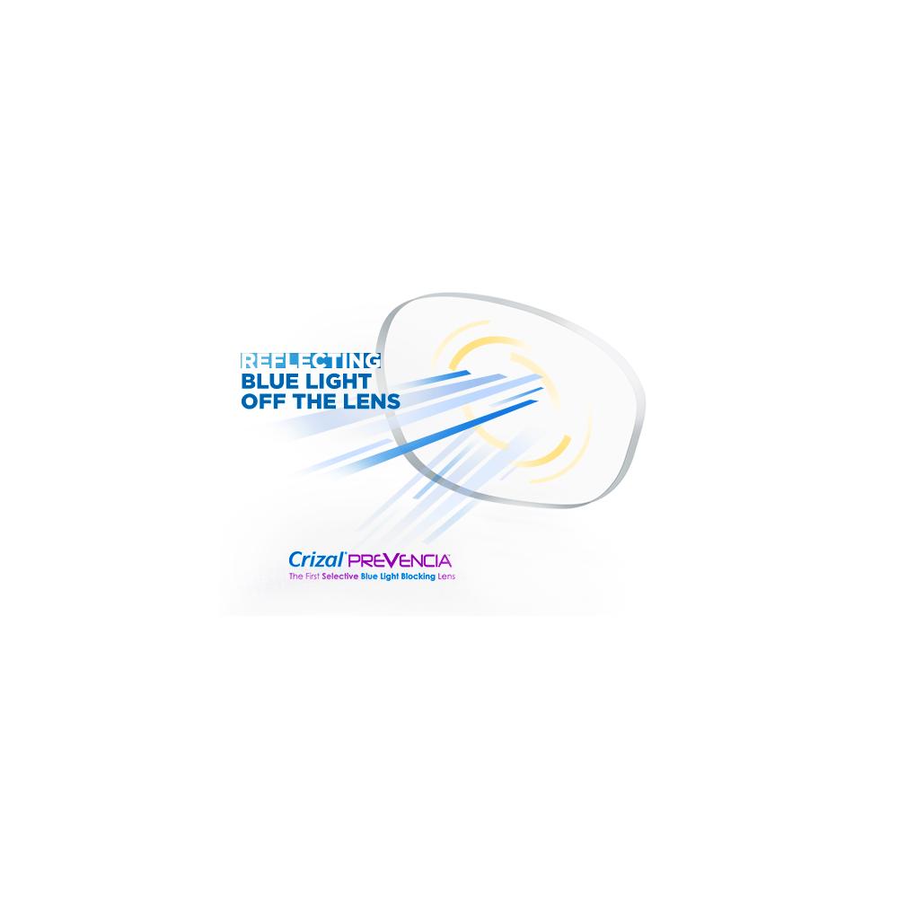 ESSILOR Orma 1.6 Crizal Prevencia UV z filtrem światła niebieskiego